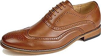 Herren 5 Öse Brogues Oxford Schuh mit Lederfutter - herren, Braun, 42