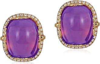 Goshwara Rock n Roll Amethyst Cabochon Earrings lUd3f53bU