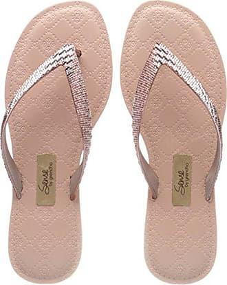 Grendha Women's Sense Metallic Plastic Thong Flip Flop Rose Size 7 piqU2sB