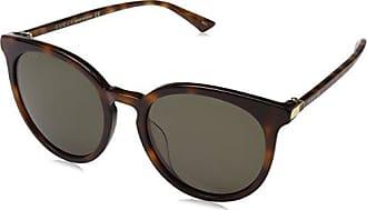 Gucci Herren Sonnenbrille GG0064SK 005, Braun (Avana/Green), 55