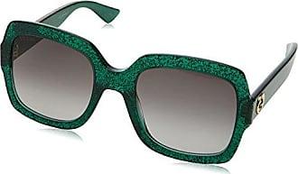 Gucci Damen Sonnenbrille GG0036S 006, Grün (Green/Grey), 54