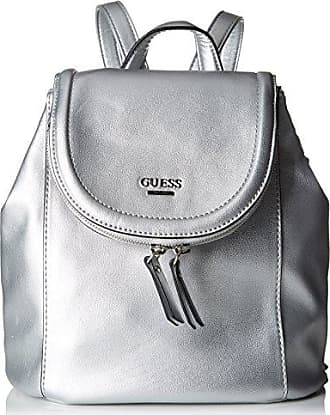 Damen Bags Hobo Shopper, Silber (Silver), 4.5x13x24.5 centimeters Guess