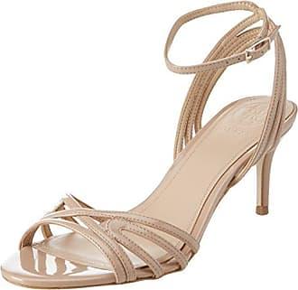 Guess Footwear Dress Sandal, Zapatos con Tacon y Correa de Tobillo para Mujer, Marfil (Light Natural Natur), 36 EU Guess