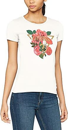 Guess SS Cn Baguette tee, Camiseta para Mujer, Blanco (True White A000), M