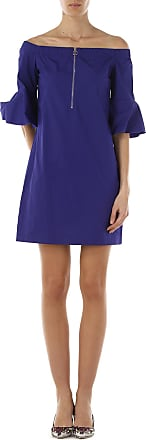 Dress for Women, Evening Cocktail Party On Sale in Outlet, Blue Violet, Cotton, 2017, 6 Guess