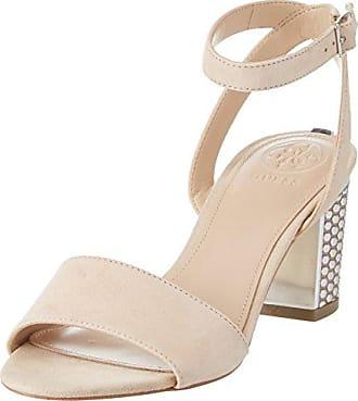 Footwear Dress, Sandali con Cinturino Alla Caviglia Donna, Argento, 37 EU Guess