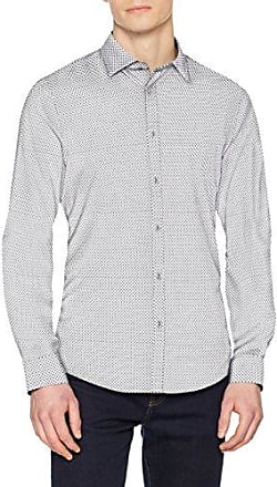 LS Soft Squared Yd, Camisa para Hombre, Blanco (Blue/White Blue/White), Small (Tallas De Fabricante:Small) Guess