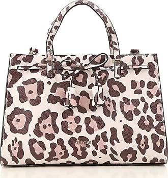 Top Handle Handbag On Sale, Leopard, polyurethane, 2017, one size Guess