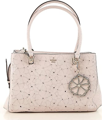 Top Handle Handbag On Sale, Rose, Coated Canvas, 2017, one size Guess