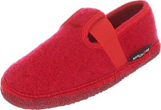 Haflinger Joschi 621002 - Pantoufles En Tissu Pour Les Enfants, Rouge, 37