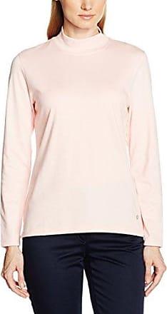 Splendid Camiseta de manga corta con cuello pico para mujer, color white (paper), talla 42