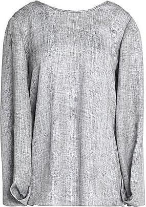 Halston Heritage Woman Printed Crepe De Chine Blouse Gray Size S Halston Heritage Cheap Sale With Paypal FtFnX3n5V