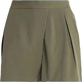 Halston Patrimoine Femme Armée Short En Sergé Plissé Vert Taille 10 Patrimoine Halston AGTXRaBsw