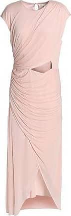 Halston Heritage Woman Wrap-effect Cutout Chiffon Midi Dress Pastel Pink Size 8 Halston Heritage Low Price Sale Online Free Shipping Original Sale 2018 New Best For Sale Udn81