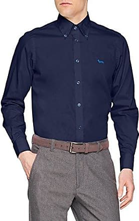 C0P012006912B, Camisa Casual para Hombre, Azul (BLU 802), XXL Harmont & Blaine