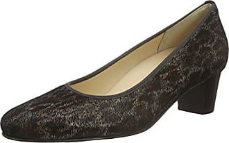 MARIAN Zapatos de salón mujer Azul negro marrón (39 EU, marrón/beige)