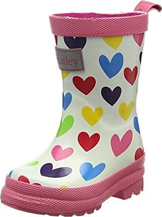 Hatley Printed Rain Boots, Work Wellingtons Fille - Violet - Purple (Stormy Days), 27