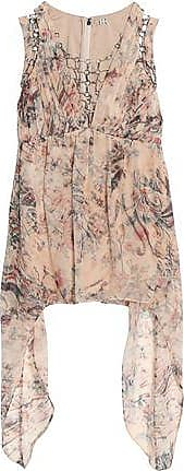 Haute Hippie Woman Ring-embellished Draped Printed Silk-chiffon Blouse Pink Size 2 Haute Hippie Websites Outlet Websites Buy Cheap Cheapest Cs4axP