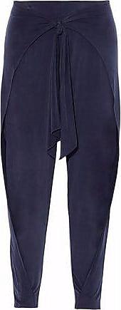 Haute Hippie Femme Cravate Avant Pantalon Conique Jersey Drapé Bleu Minuit Taille Xs Haute Hippie YCJVY