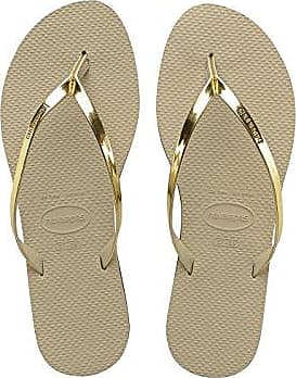 Havaianas Slim Crystal Glamour Sw, Chanclas Mujer, Beige (Sand Grey/Light Golden 2719), 43/44 EU (41/42 BR)