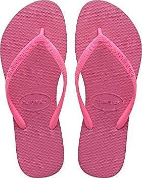 Havaianas Flip Flops Slim Logo Zehentrener für Frauen,Rosa (Rosa 1139),35/36 EU (33/34 Brazilian)