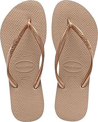 Havaianas Damen Spring Zehentrenner, Mehrfarbig (Sand Grey/Golden Blush), 37/38 EU