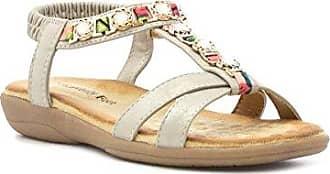 HEAVENLY FEET Sandale im Gold mit Kreuzbügeln für Frauen Größe 38 - Mehrfarbig euRiQ1v75