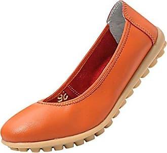 Hee Grand Damen Arbeit Flach Mokassin Slipper-Schuhe, Weiß - Weiß - Größe: 37