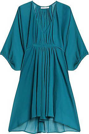 Heidi Klein Woman Gathered Crinkled Gauze Kaftan Teal Size IV Heidi Klein Sale Limited Edition Outlet Best Wholesale Footlocker Pictures Cheap Online ZP1qw18