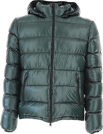 Down Jacket for Men, Puffer Ski Jacket On Sale, Blue, polyester, 2017, M Herno