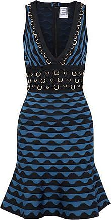 Hervé Léger Woman Katrin Ring-embellished Jacquard-knit Bandage Dress Black Size XS Hérve Léger wBriLI