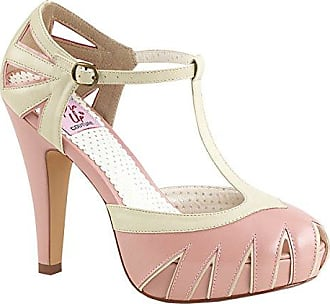 Pinup Couture Plateau Pumps Bettie-25 Babypink Gr. 38 Higher-Heels O57cH