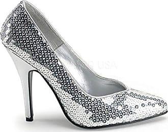 Minitoo , Damen Pumps, silber - Silver-7.5cm Heel - Größe: 43
