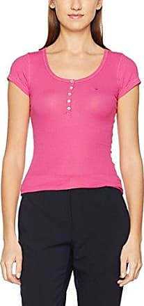 Tommy Jeans Hilfiger Denim DW0DW01735, Camiseta para Mujer, Rosa (Fuchsia Rose 661), Large