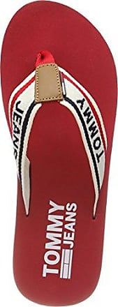 Hilfiger Denim Damen Love TJ Beach Sandal Zehentrenner, Rot (Tango Red 611), 40 EU