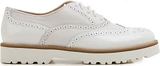 Zapatos Calados Brogue Baratos en Rebajas, Blanco, Piel, 2017, 35 36.5 37.5 39 40 Hogan