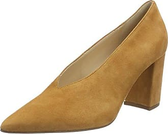 Burgi - Zapatos de Tacón Mujer, Color Beige, Talla 40 UE Bergheimer Trachtenschuhe