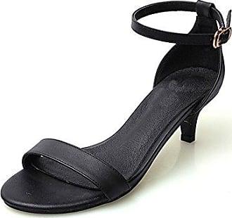 CFP , Damen Knöchel-Riemchen , schwarz - schwarz - Größe: 35