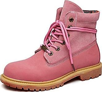 SHOWHOW Damen Martin Boots Stiefelette mit Schnürsenkel Braun 39 EU AmeNfP7