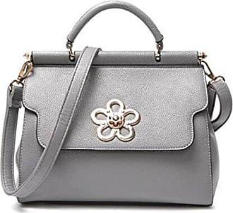 Frauen Damen Handtasche Mode PU Leder Tote Satchel Kreuz-Körper Schulter Messenger Bags (4 Farben),Black-32*12*23cm Hope