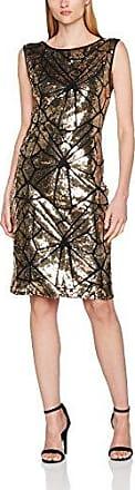 HotSquash Sleeveless 1920S Gold Sequin Dress, Robe Femme, (Gold 20), 38