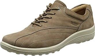 HotterTone - Zapatos Planos con Cordones Mujer, Color Marrón, Talla 42