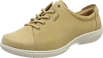 Dew, Zapatos de Cordones Oxford para Mujer, Beige (Sand 079), 37.5 EU Hotter