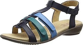 MAISEE - Sandalias con Punta Abierta de Piel Mujer, Color Marrn, Talla 41.5 Hotter
