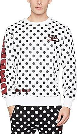 Umbro Polka Dot Side Rib Sweatshirt, Sudadera para Hombre, Blanco (White 002), Medium House Of Holland