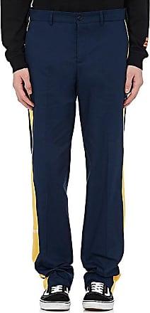 contrasting side panel straight leg trousers - Blue HPC Trading Co. vO5TzQL8