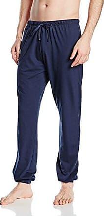 24 Hours Men Sleep Hose Lang, Pantalones de Pijama para Hombre, Azul (Tessimaglia Blue 010381), Medium Huber