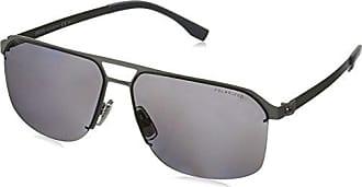 BOSS Hugo Boss Hugo Boss Herren Sonnenbrille Boss 0701/S NR V81, Schwarz (Dark Ruthenium Black/Brown Grey), 57
