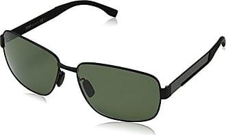Hugo Boss Herren Sonnenbrille Boss 0692/F/S RC Hxj, Schwarz (Mttbk Carbon/Green Pz), 64