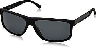 BOSS Hugo Boss Hugo Boss Herren Sonnenbrille Boss 0637/S NR Hxe, Schwarz (Black Carbon/Brown Grey), 60
